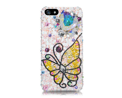 Butterfly Heart Bling Crystal iPhone 7 Cases