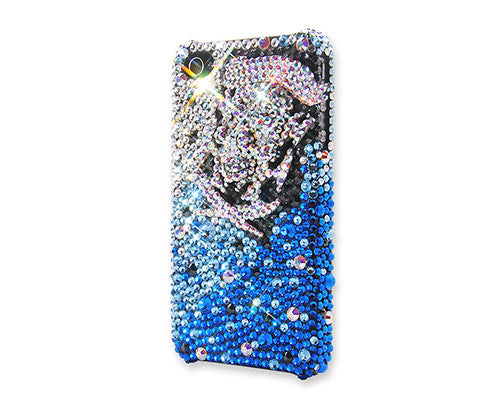 Blue Skull Bling Crystal iPhone 7 Cases