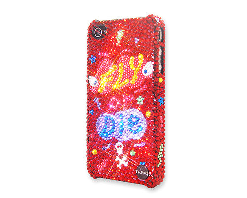 Fly Or Die Bling Crystal iPhone 6S Plus Cases