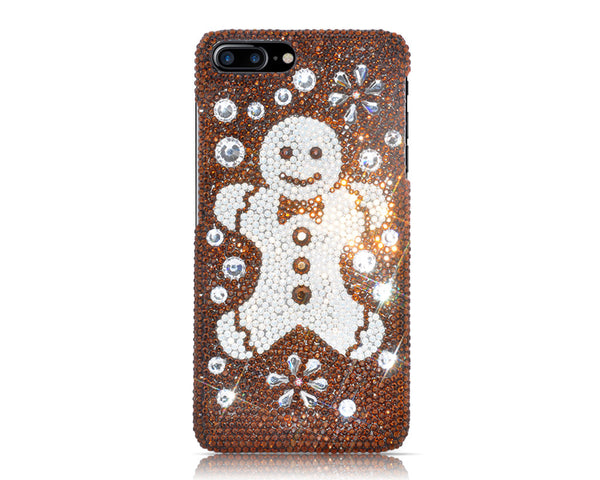 Snowflake Gingerbread Bling Swarovski Crystal Galaxy S7 Phone Cases