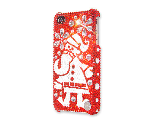 Snowflake Santa Christmas Bling Swarovski Crystal Galaxy S7 Phone Cases