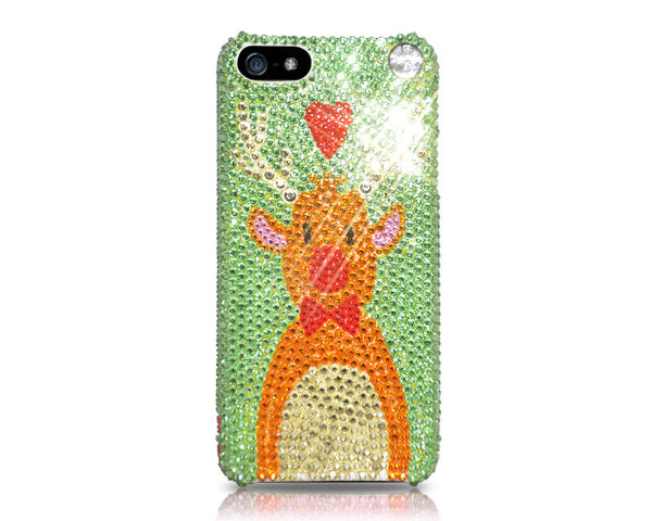 Rudolf Christmas Bling Swarovksi Crystal Galaxy S7 Phone Cases