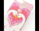 Love Swans Bling Crystal iPhone 6 Cases
