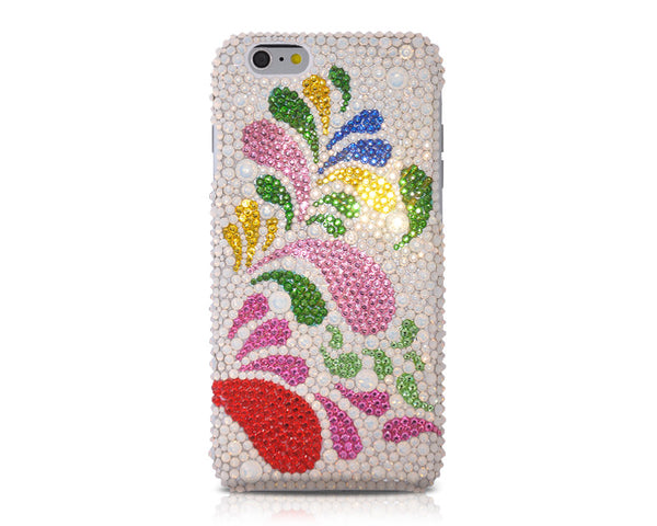 Colorful Fountain Bling Swarovski Crystal Phone Case
