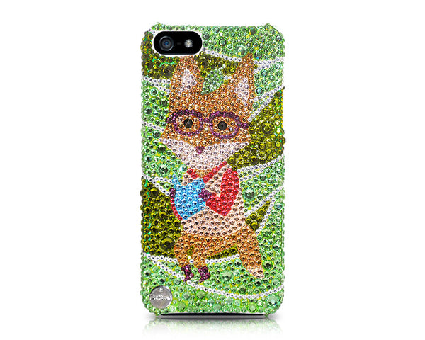 Glasses Fox Bling Crystal iPhone 6S Plus Cases