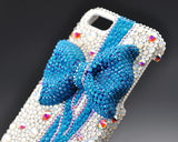 Blue Ribbon Bling Crystal iPhone 7 Cases
