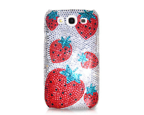 Strawberry Bling Crystal Galaxy S7 Phone Cases