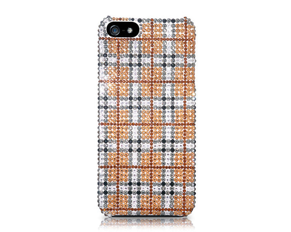Tartan Bling Crystal Galaxy Note 5 Phone Cases