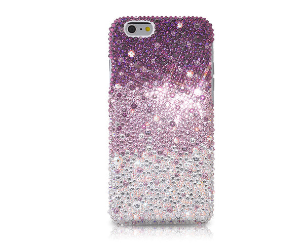 Gradation Swarovski Crystal iPhone 6S Plus Cases - Purple