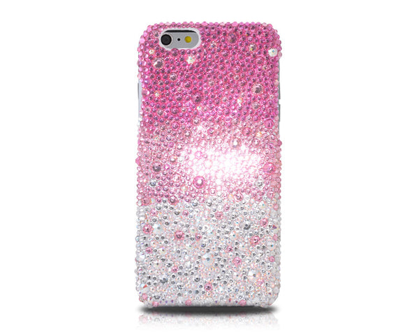 Gradation Swarovski Crystal iPhone 6S Plus Cases - Pink