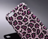 Leopardo Swarovski Crystal iPhone 6S Plus Cases - Purple