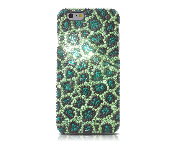 Leopardo Swarovski Crystal iPhone 6S Plus Cases - Green