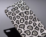 Leopardo Swarovski Crystal iPhone 6S Plus Cases - Black