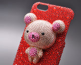 Bear Bling Swarovski Crystal iPhone 7 Cases - Red