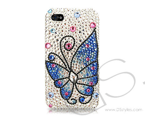 Butterfly Fantasy Bling Swarovski Crystal iPhone 7 Cases - Blue