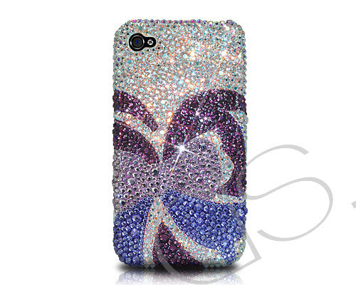Butterfly Bling Crystal iPhone 7 Cases - Purple