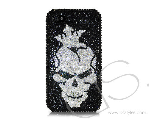 Skull King Bling Crystal Galaxy S7 Phone Cases