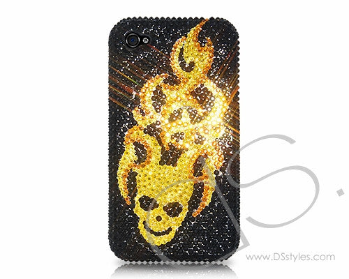 Flying Skull Bling Crystal iPhone 6S Plus Cases