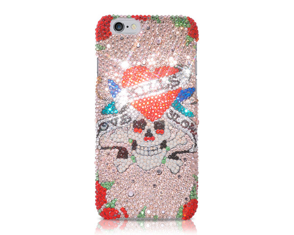 Pirate Skull Bling Crystal iPhone 6 Cases