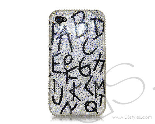 Alphabets Bling Crystal iPhone 7 Cases