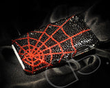 Spider Web Bling Crystal Galaxy S7 Phone Cases - Red