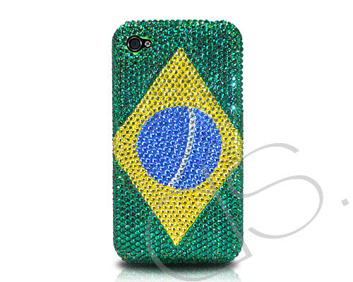 National Series Bling Crystal iPhone 6 Cases - Brazil