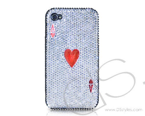 Poker Heart Ace Bling Swarovski Crystal iPhone 6 Cases