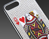 Poker Heart Queen Bling Crystal iPhone 6 Cases
