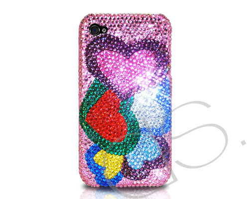 Loving Hearts Bling Crystal iPhone 6 Cases