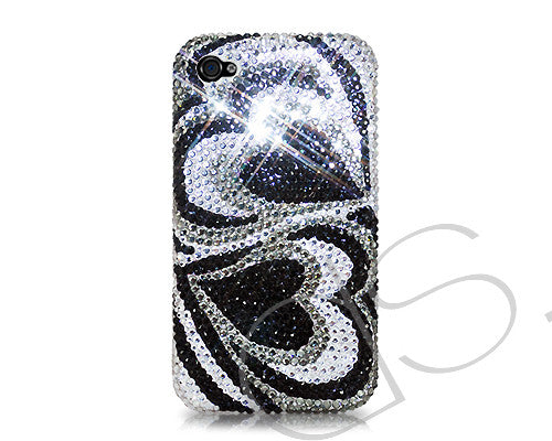 Duo Hearts Bling Crystal iPhone 7 Plus Cases