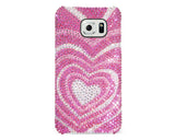 Sweet Heart Bling Swarovski Crystal Galaxy S7 Phone Cases