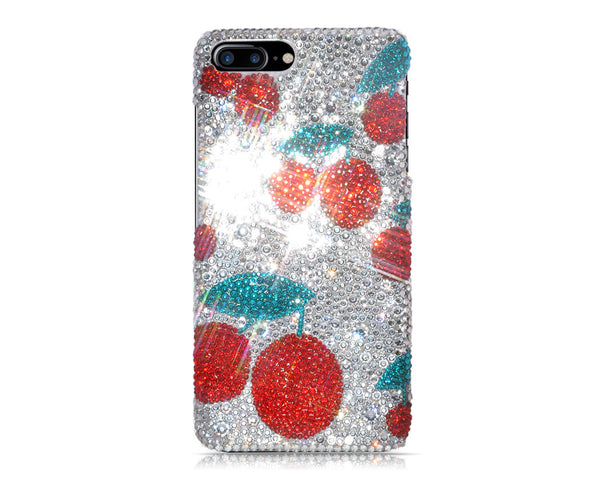 Cherries Swarovski Crystal iPhone 7 Cases - Silver