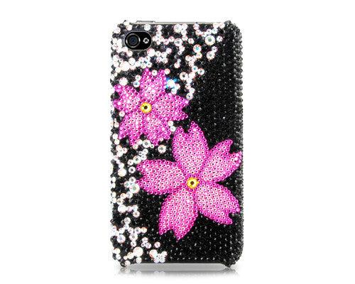 Twin Floral Bling Crystal Galaxy Note 5 Phone Cases