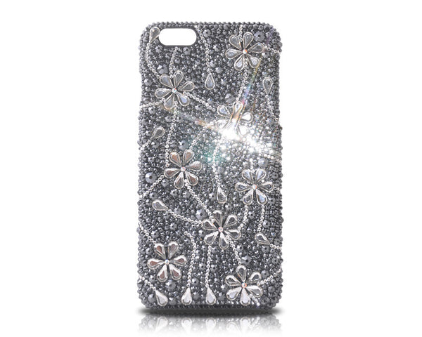 Dark Snowflake Bling Crystal iPhone 7 Plus Cases