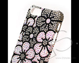 Blossom Bling Crystal iPhone 7 Cases - Black