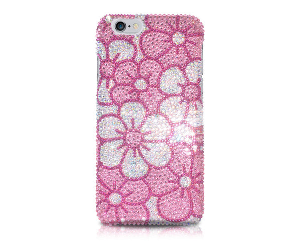 Blossom Bling Crystal iPhone 7 Cases - Pink