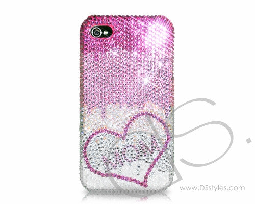 Loving Heart Personalized Bling Crystal iPhone 6 Cases
