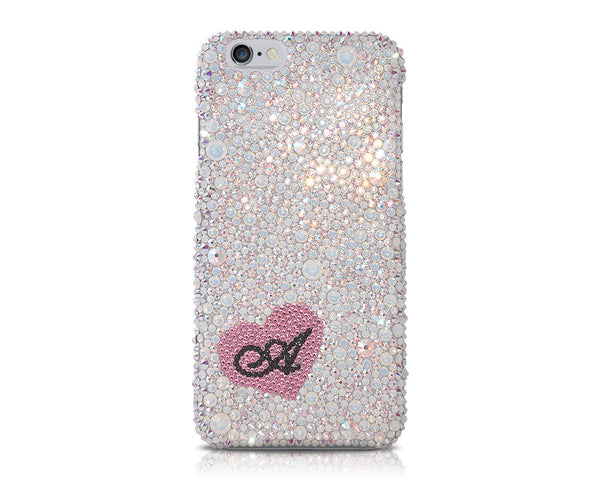 Fall in love Personalized Bling Crystal iPhone 7 Plus Cases - Silver