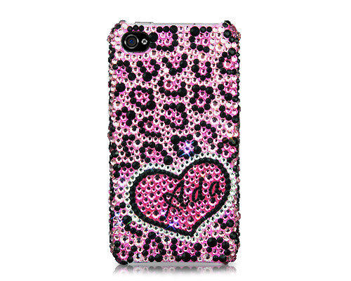 Love Leopard Personalized Bling Crystal iPhone 6 Cases