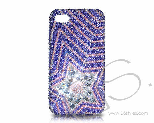 Multi Stars Bling Crystal iPhone 6 Cases - Purple