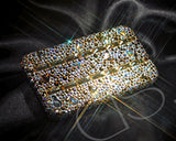 Stitching Gold Bling Crystal Galaxy S7 Phone Cases