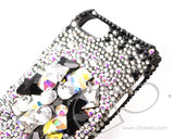 Diamond Layer Bling Crystal iPhone 7 Plus Cases - Black