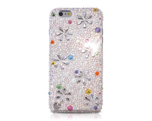 Petal Drops Bling Crystal iPhone 6 Cases - Silver