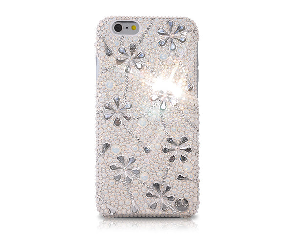 Petal Drops Bling Swarovski Crystal iPhone 6 Cases - White
