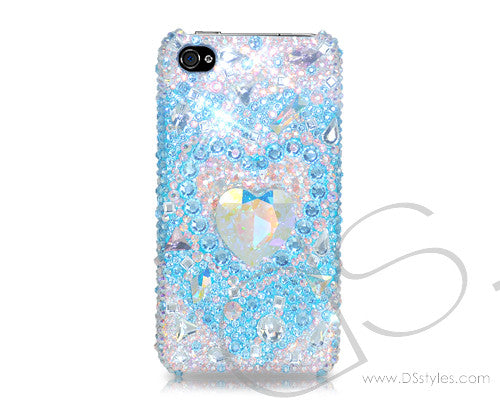 Cubic Heart Bling Crystal iPhone 7 Plus Cases - Silver