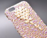 Diamond Flower Bling Swarovski Crystal iPhone 7 Plus Cases -Gold(4.7 inches)