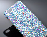 Diamond Flower Bling Crystal iPhone 7 Plus Cases - Blue