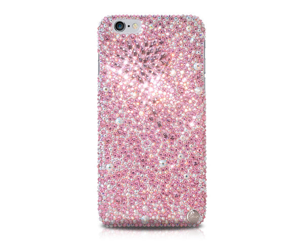 Diamond Flower Bling Crystal iPhone 7 Plus Cases - Pink