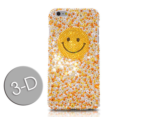 Smiling Face 3D Bling Swarovski Crystal Galaxy S7 Phone Cases - Yellow