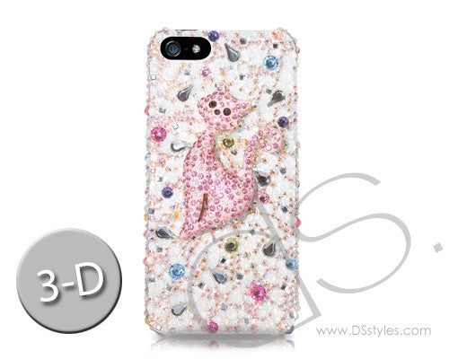 Catty 3D Bling Swarovski Crystal iPhone 7 Cases - Silver